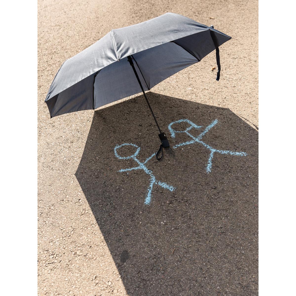 """Складной зонт-полуавтомат  Deluxe 21"""",синий"""