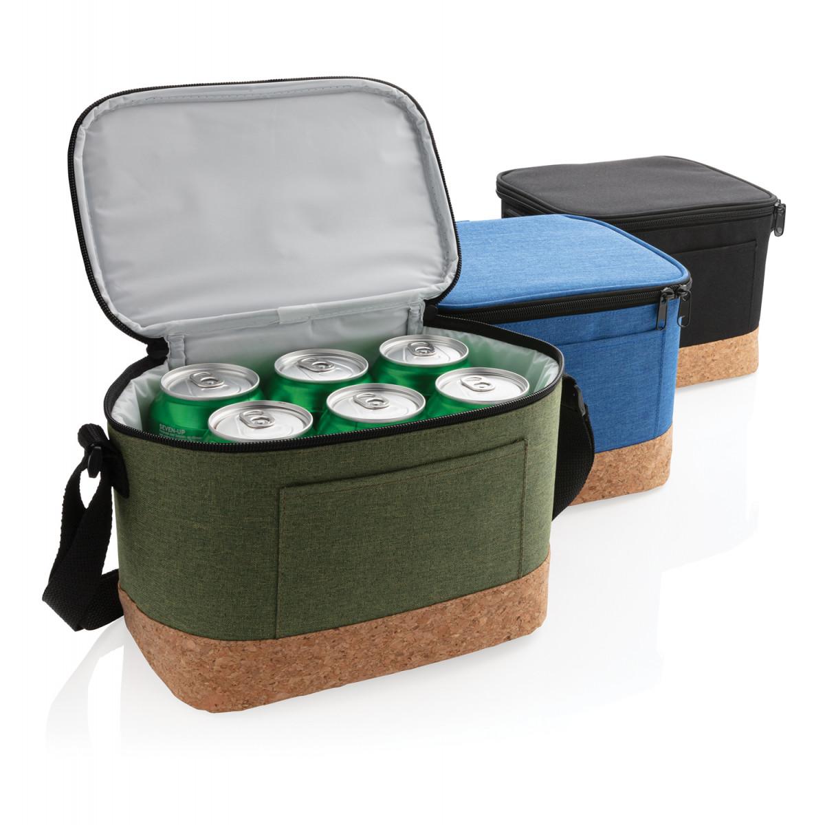 Двухцветная сумка-холодильник с пробковой отделкой