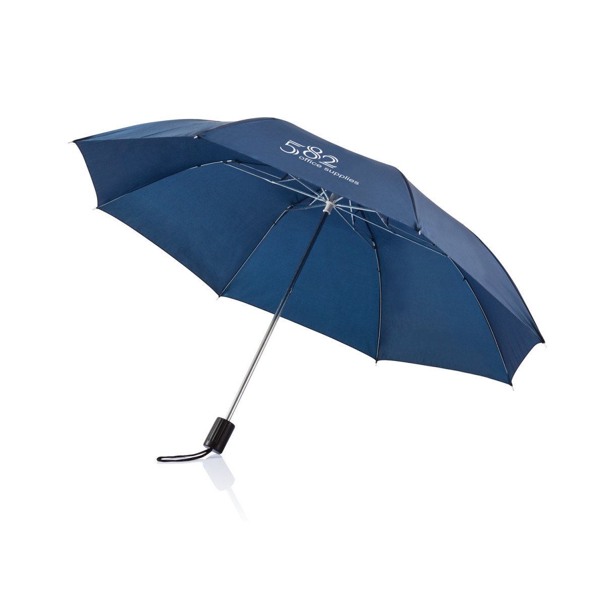 Складной зонт Deluxe 20,темно-синий