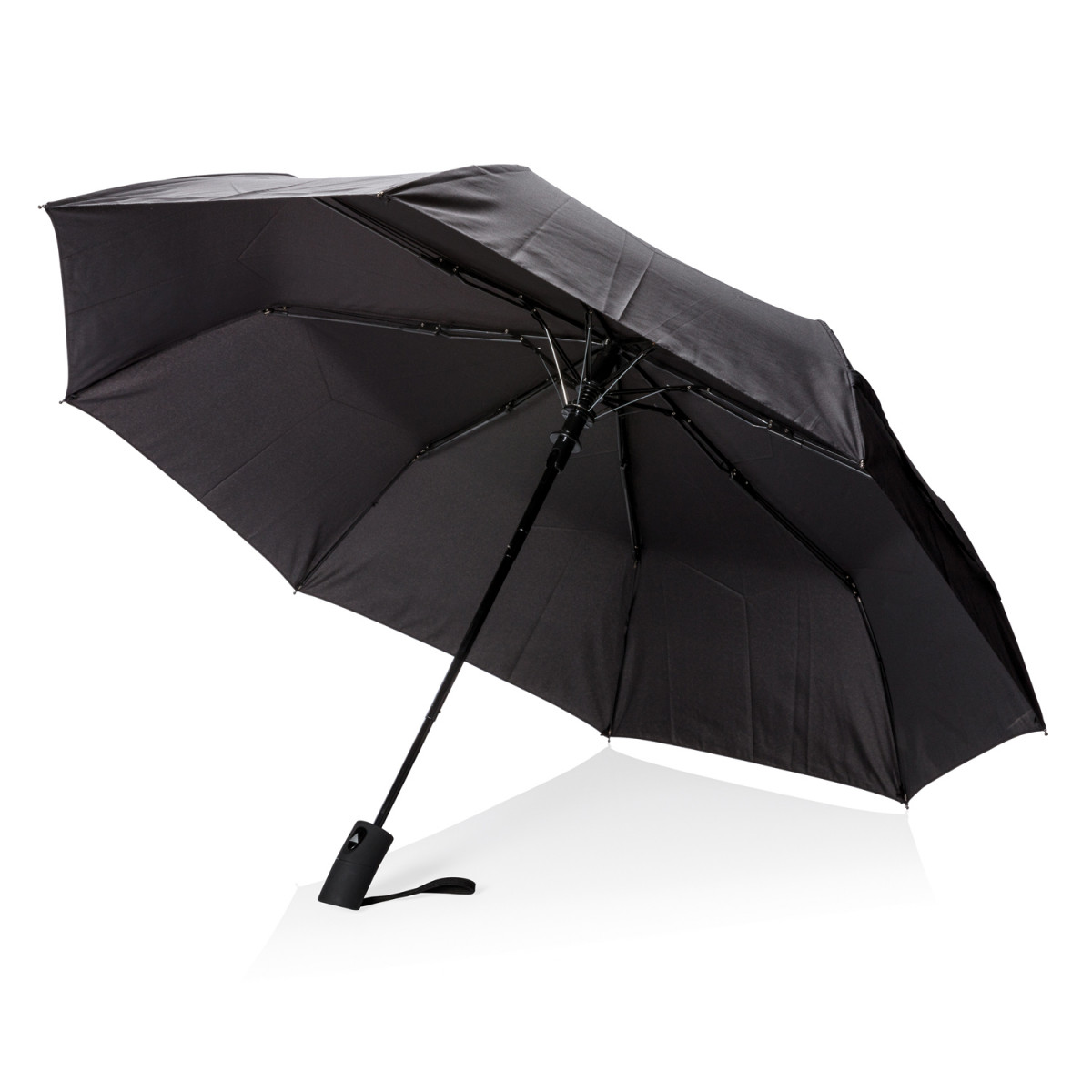 """Складной зонт-полуавтомат Deluxe 21"""",черный"""