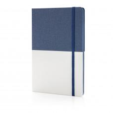 Блокнот Deluxe A5 с комбинированной обложкой, синий