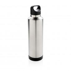 Термобутылка с беспроводной зарядкой, серый