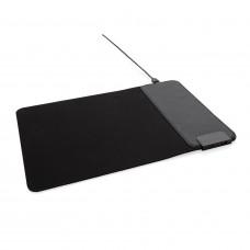 Коврик для мыши с беспроводной зарядкой 15 Вт и портами USB