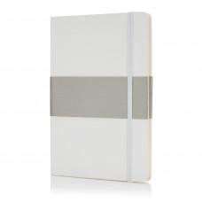 Блокнот в твердой обложке формата A5, белый