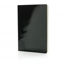 Металлизированный блокнот Deluxe A5, черный