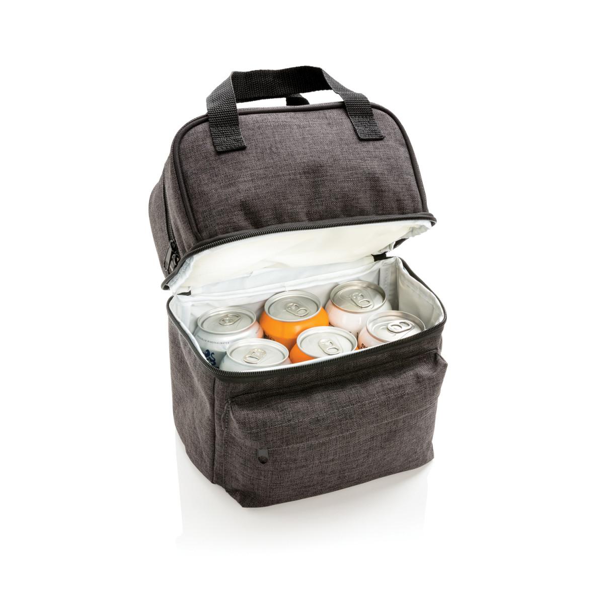 Сумка-холодильник с 2 изолированными отделениями,антрацит