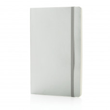 Блокнот Deluxe в мягкой обложке А5, серебряный