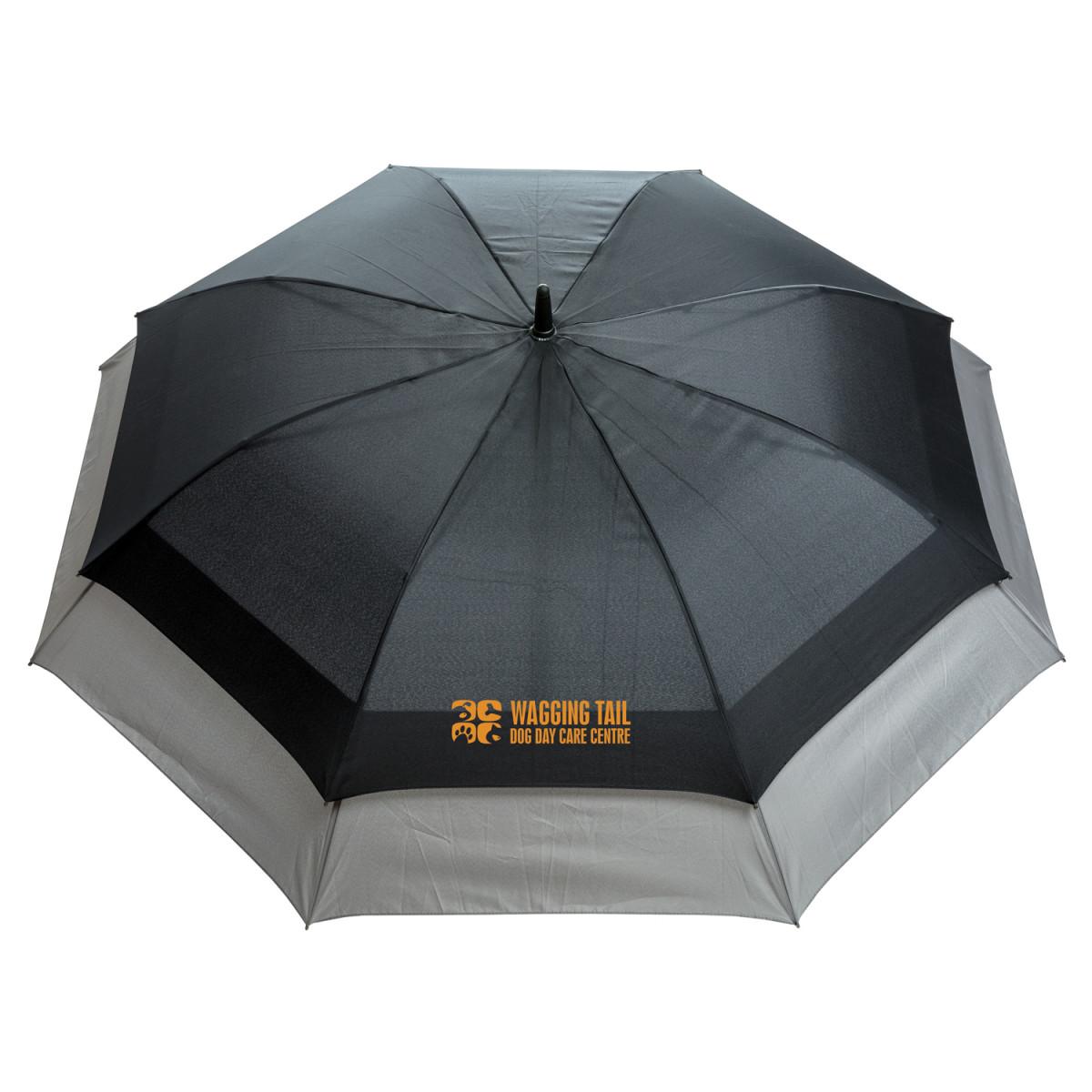 Расширяющийся зонт-антишторм Swiss Peak 23 - 27,черный