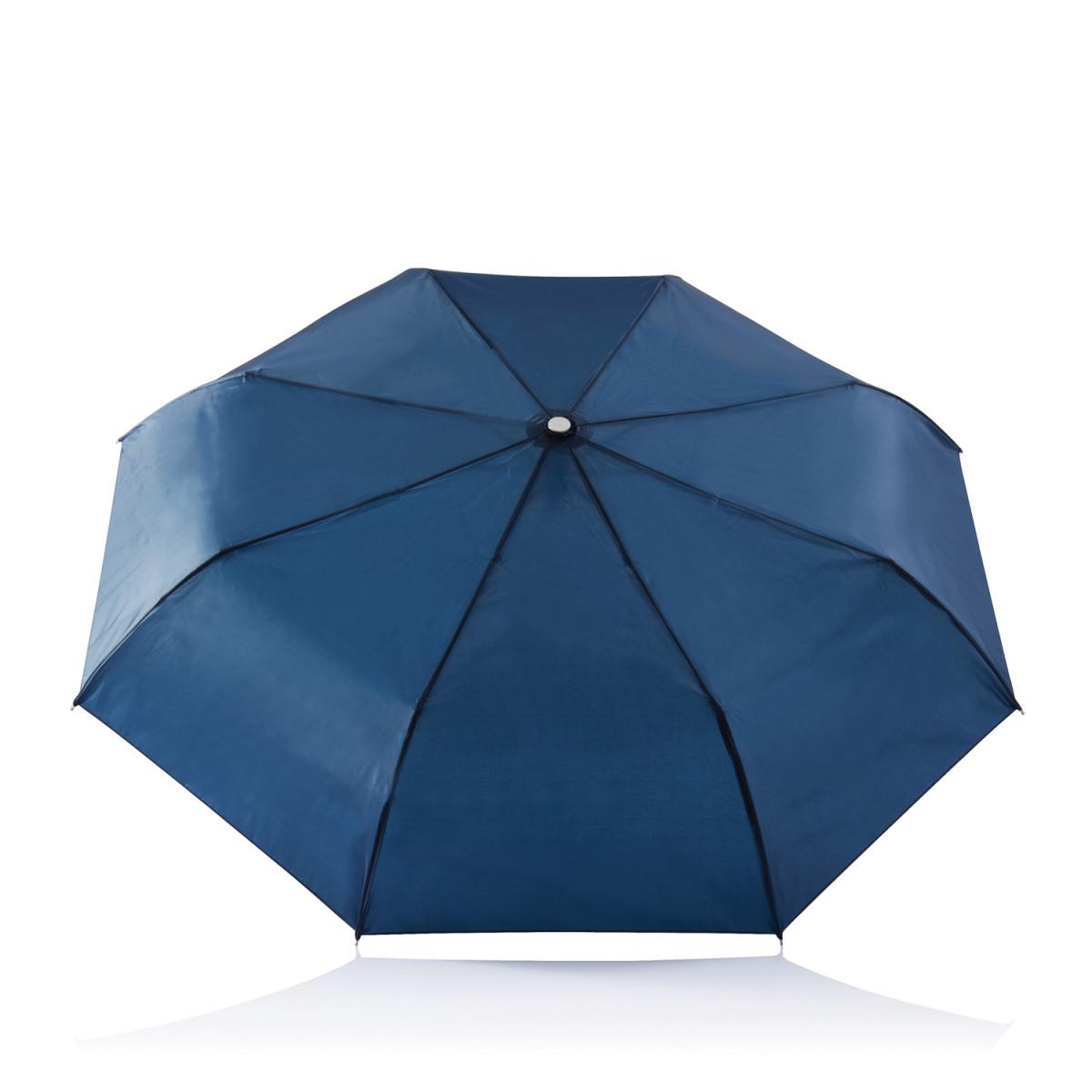 Складной зонт-автомат Deluxe 21,5,темно-синий