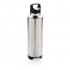 Термобутылка с беспроводной колонкой, серый