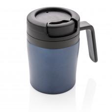 Термокружка с ручкой Coffee-to-go, синий
