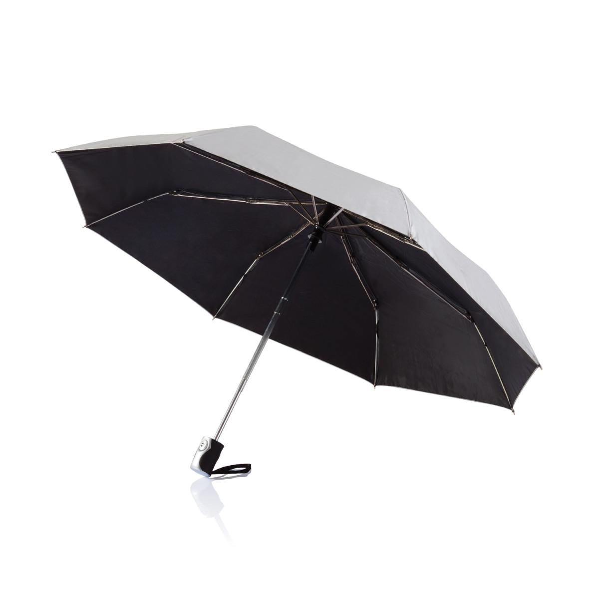 Складной зонт-автомат Deluxe 21,5,серебряный