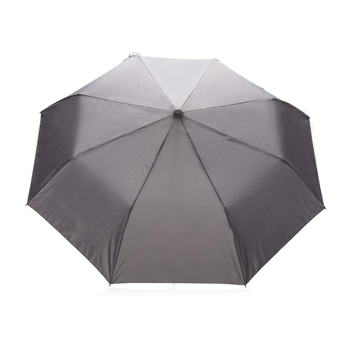 "Складной зонт зонт-полуавтомат  Deluxe 21"",серый"