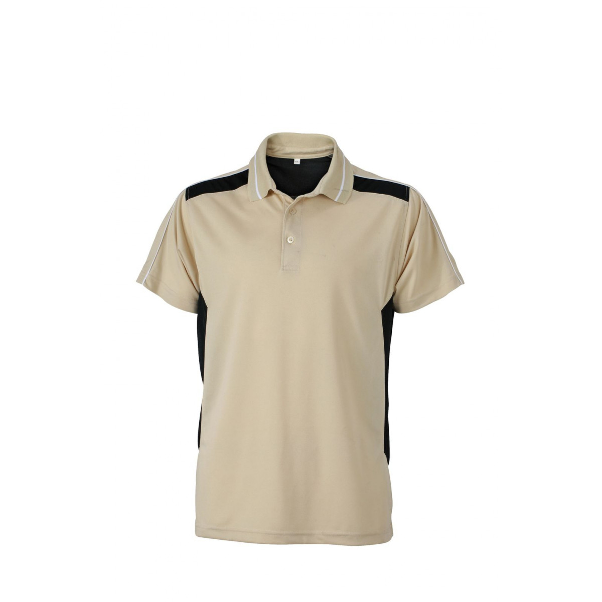 Рубашка поло мужская JN828 Craftsmen Poloshirt - Бежевый/Черный