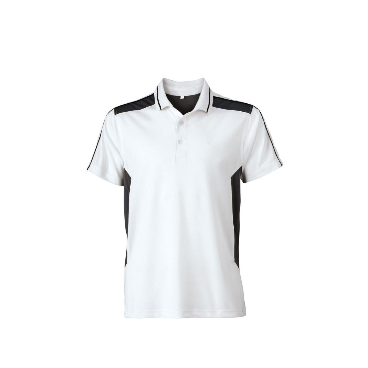 Рубашка поло мужская JN828 Craftsmen Poloshirt - Белый/Темно-серый