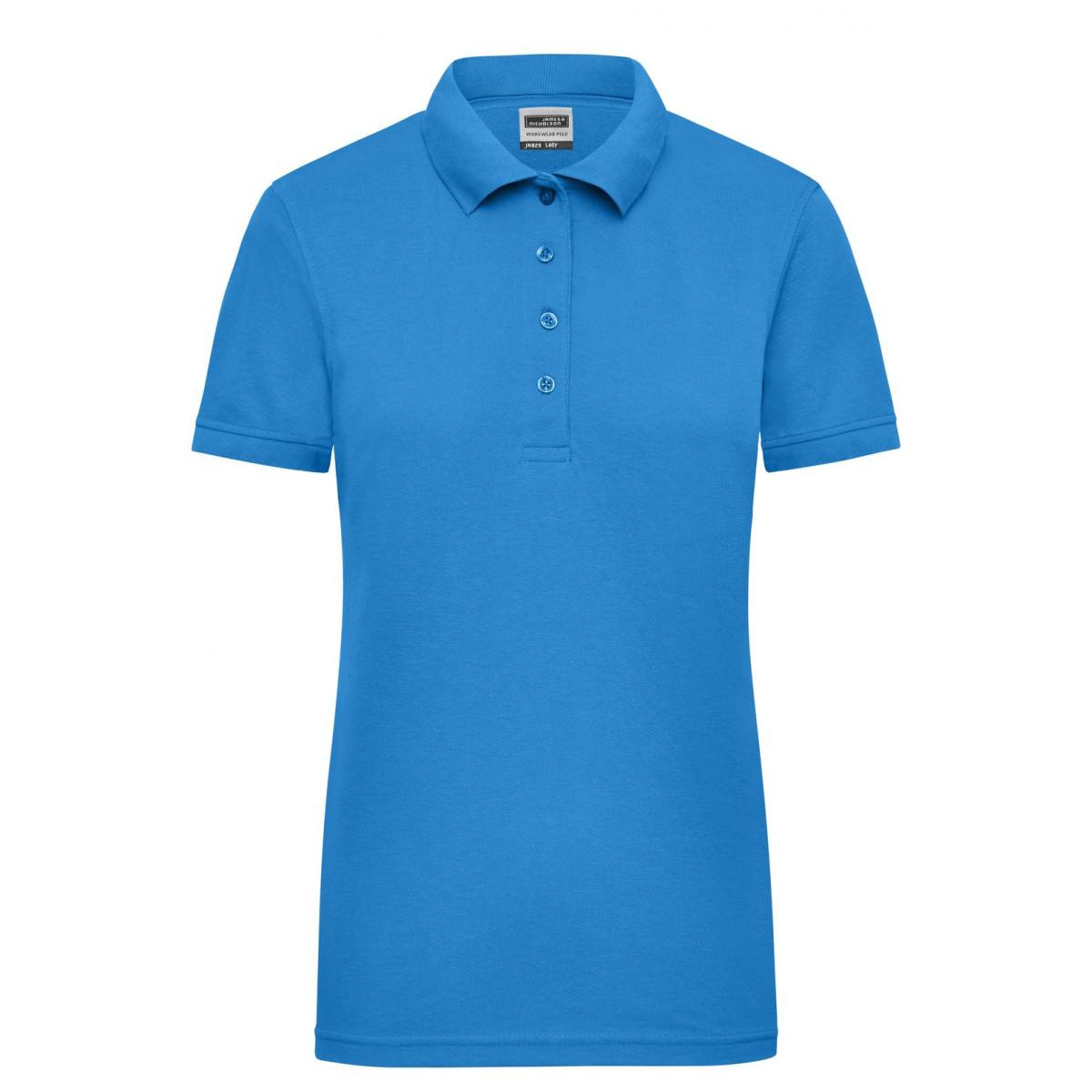 Рубашка поло женская JN829 Ladies Workwear Polo - Аква