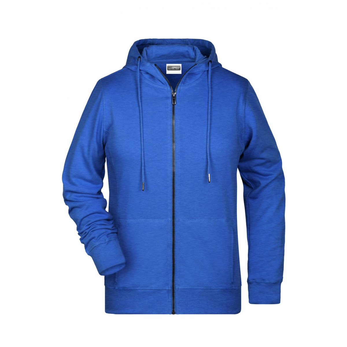 Толстовка женская 8025 Ladies Zip Hoody - Ярко-синий меоанж