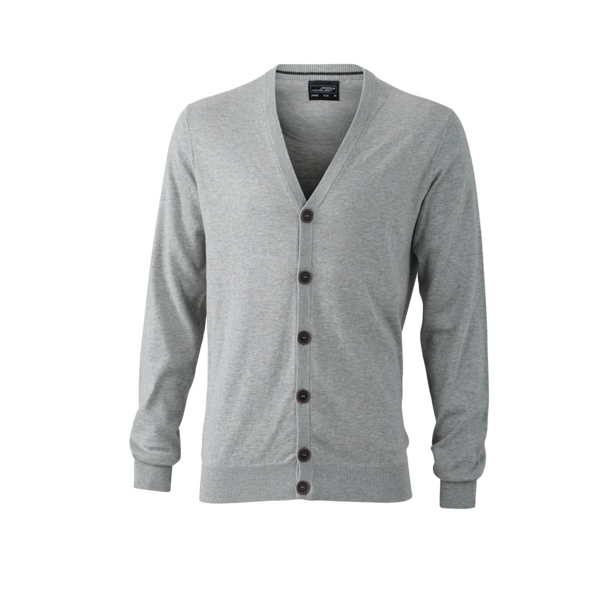 Кардиган мужской JN668 Mens Cardigan - Серый меланж