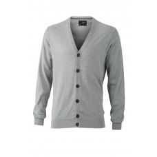 Кардиган мужской JN668 Men's Cardigan - Серый меланж