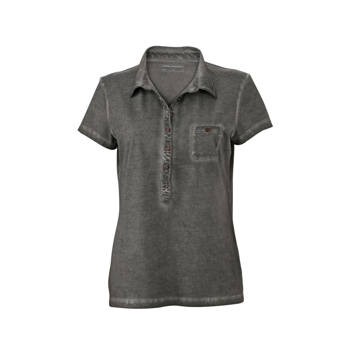 Рубашка поло женская JN987 Ladies Gipsy Polo - Оливковый