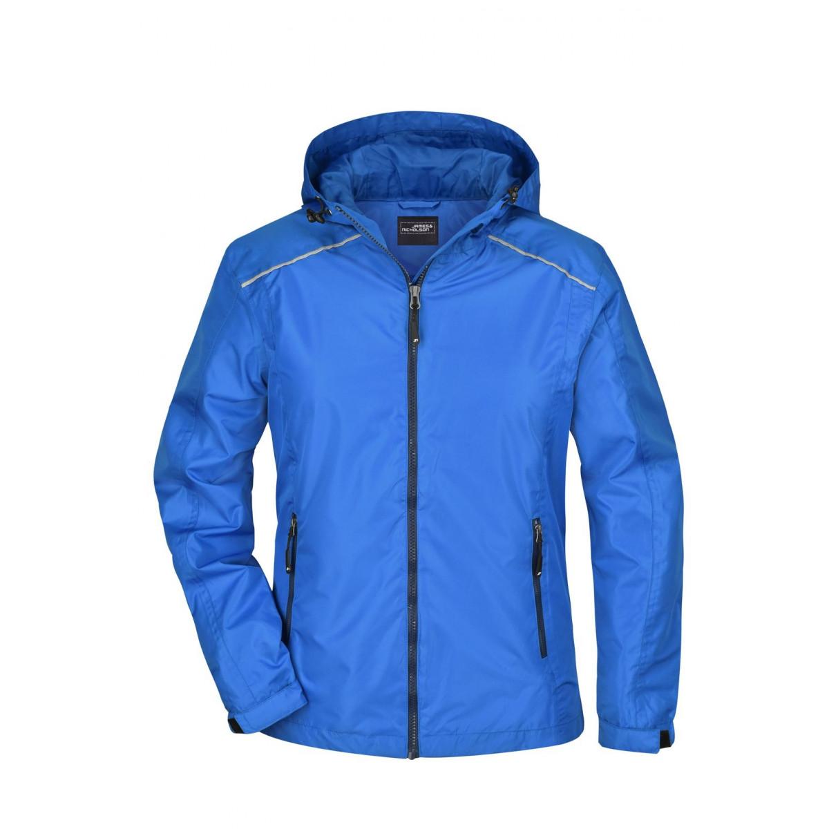 Куртка женская JN1117 Ladies Rain Jacket - Ярко-синий/Темно-синий