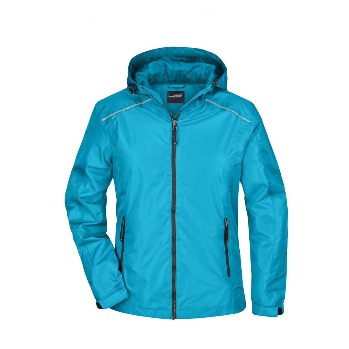 Куртка женская JN1117 Ladies Rain Jacket - Бирюзовый/Стальной