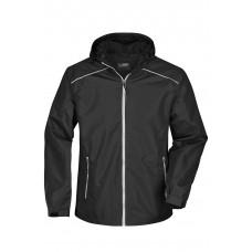Куртка мужская JN1118 Men's Rain Jacket - Черный/Серебряный