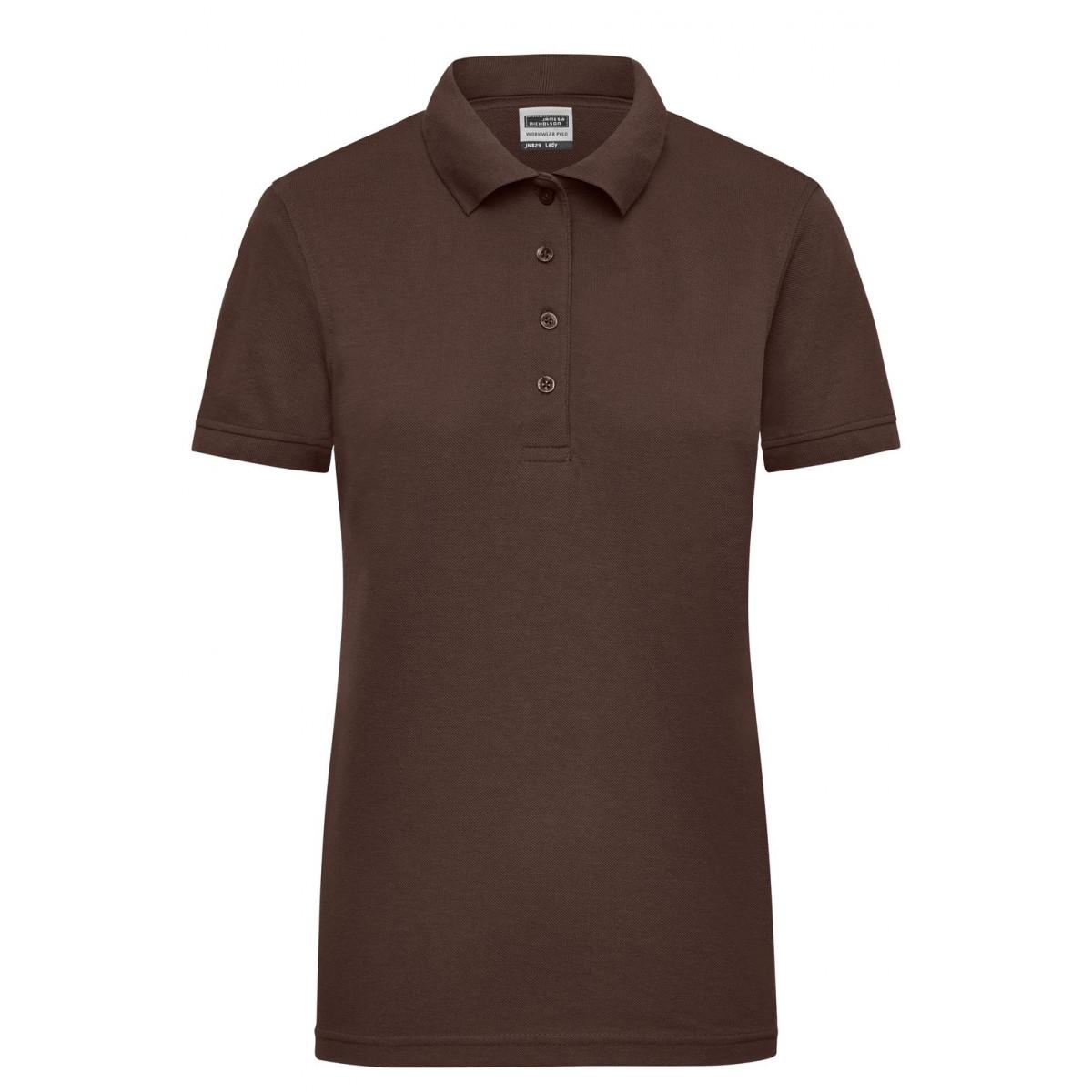 Рубашка поло женская JN829 Ladies Workwear Polo - Коричневый