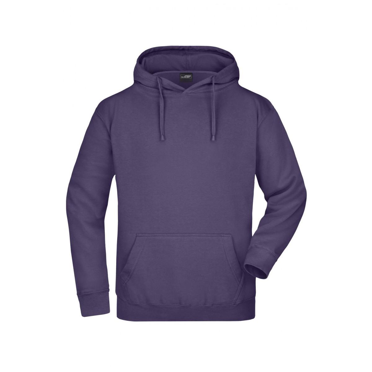 Толстовка мужская JN047 Hooded Sweat - Темно-фиолетовый