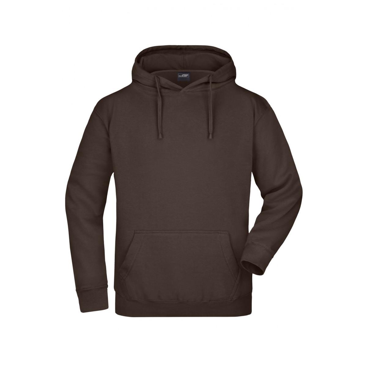Толстовка мужская JN047 Hooded Sweat - Коричневый