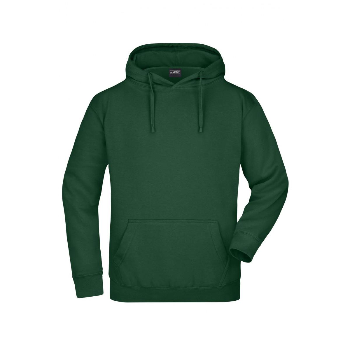 Толстовка мужская JN047 Hooded Sweat - Темно-зеленый