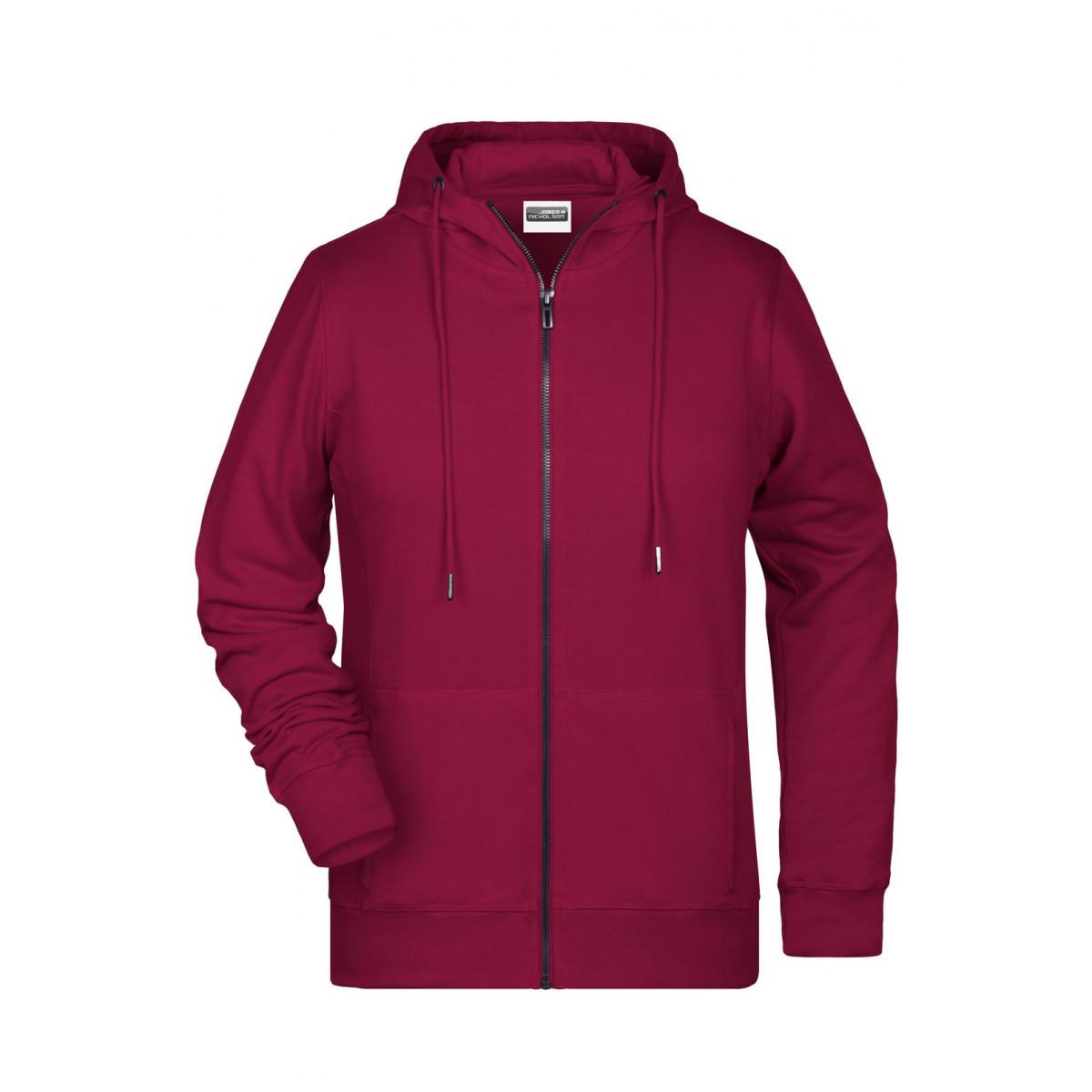 Толстовка женская 8025 Ladies Zip Hoody - Бордовый
