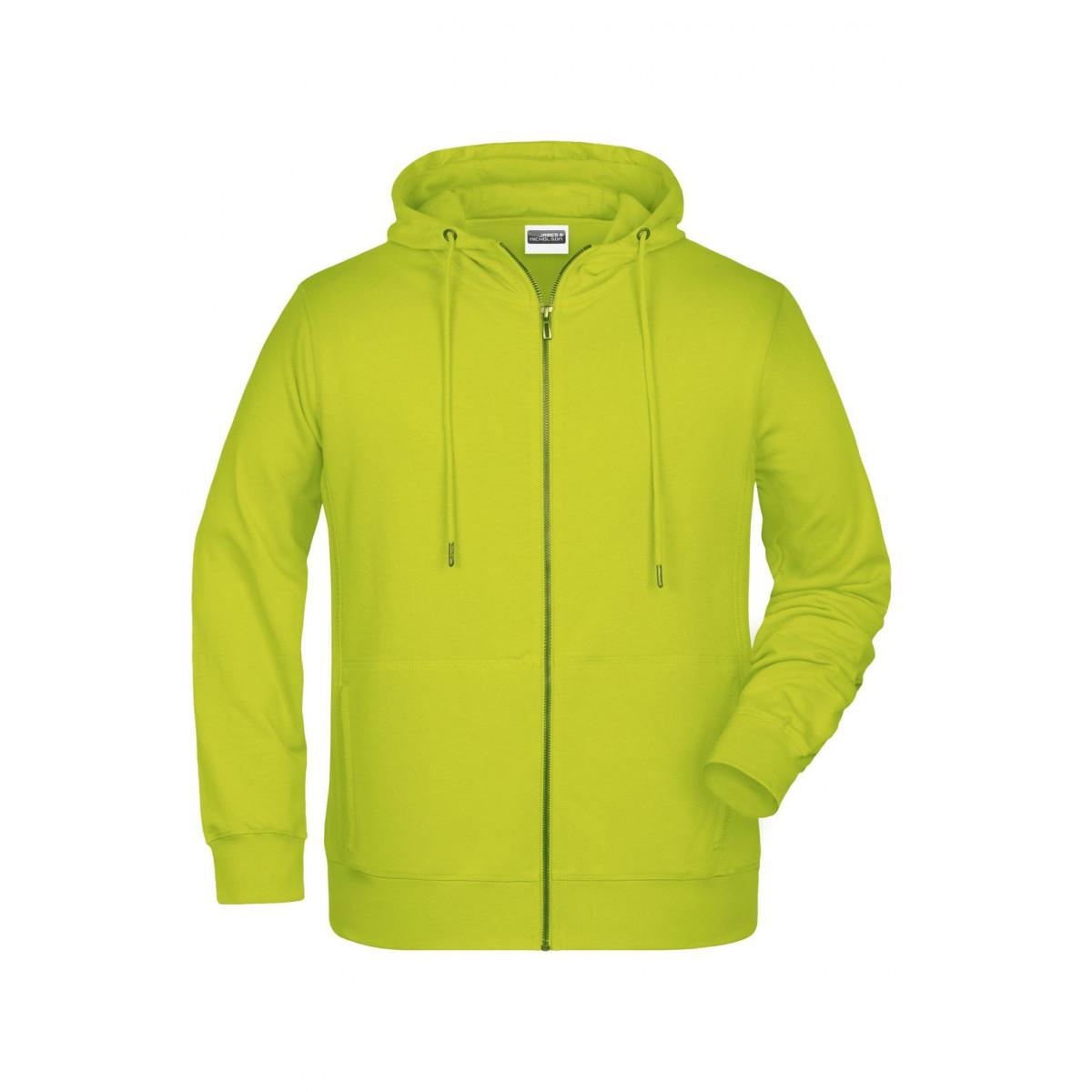 Толстовка мужская 8026 Mens Zip Hoody - Ярко-желтый