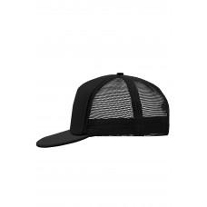 Бейсболка MB6207 5 Panel Flat Peak Cap - Черный/Черный