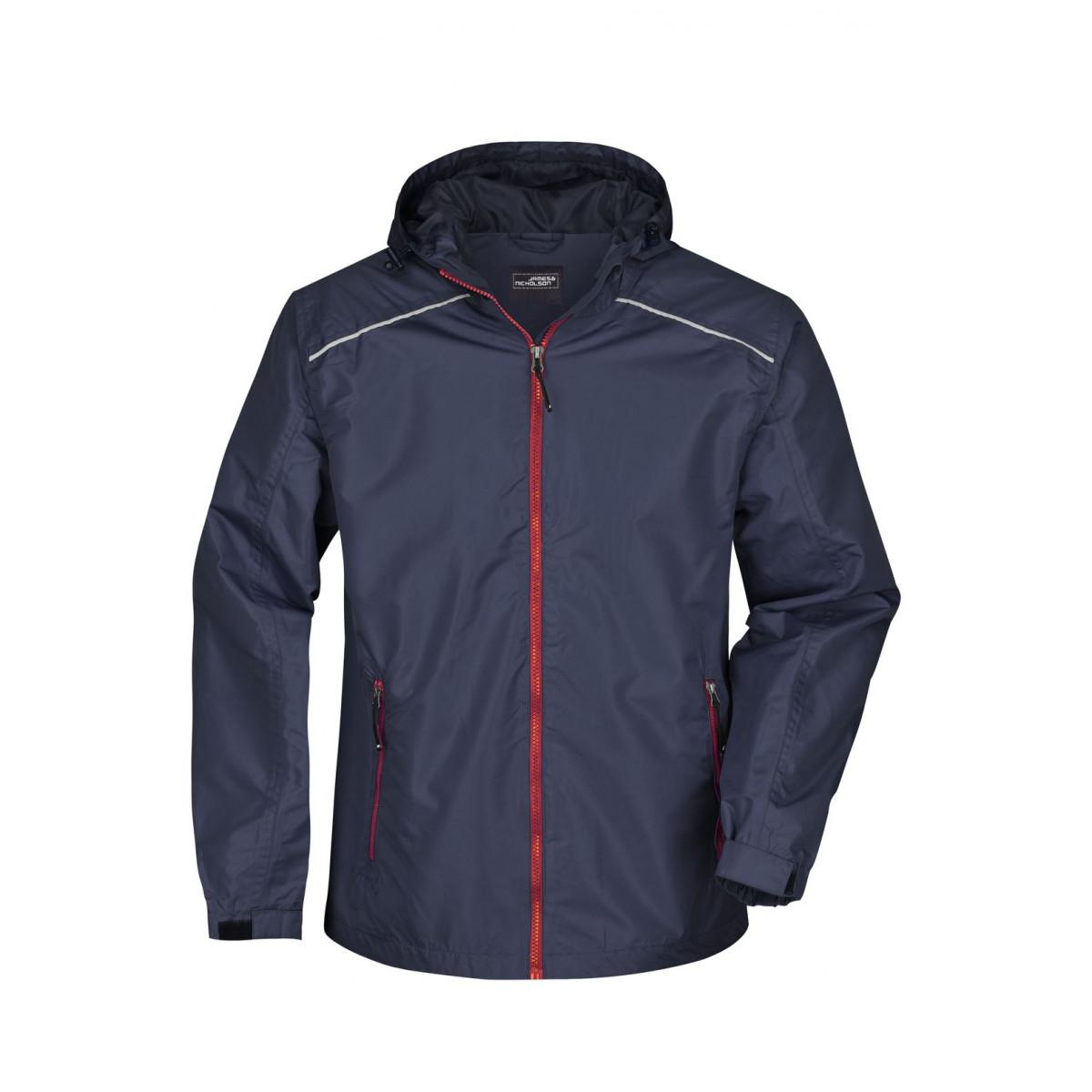 Куртка мужская JN1118 Mens Rain Jacket - Темно-синий/Красный