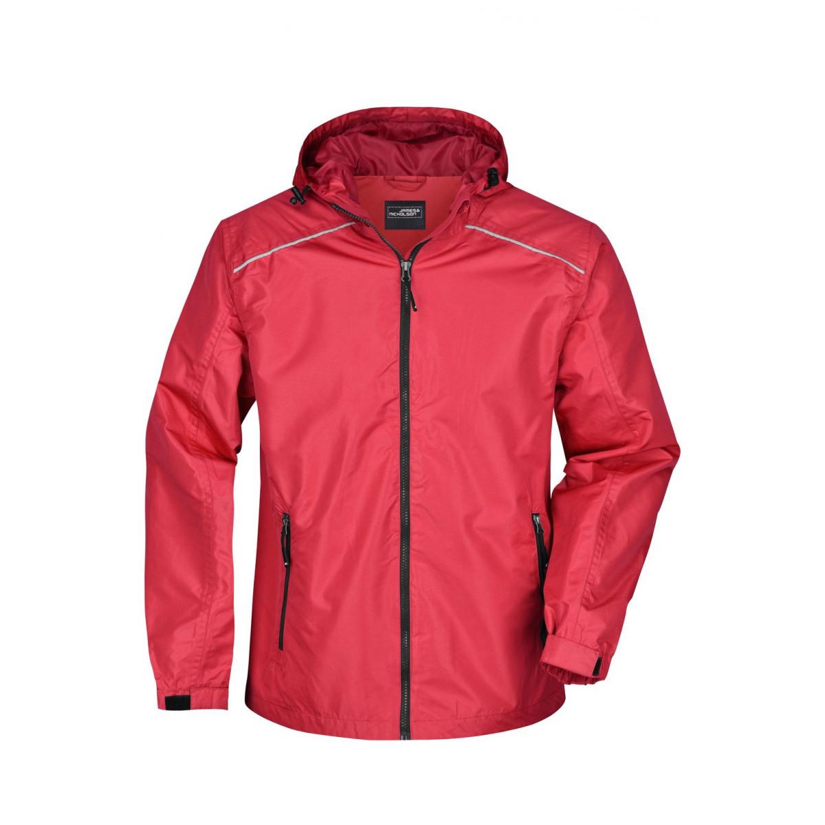 Куртка мужская JN1118 Mens Rain Jacket - Красный/Черный