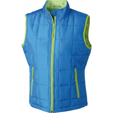 Жилет женский JN1036 Ladies' Padded Light Weight Vest - Аква/Лайм