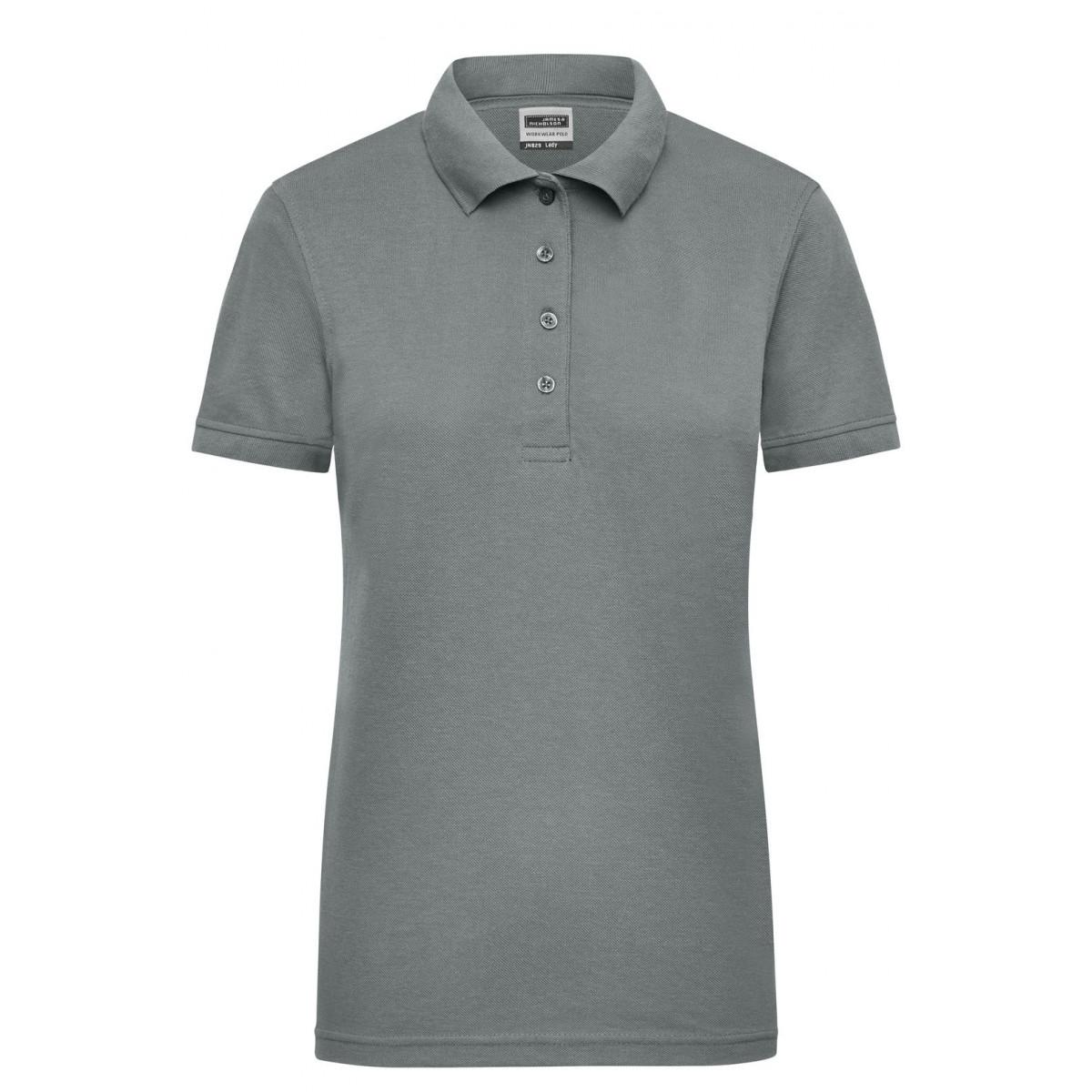 Рубашка поло женская JN829 Ladies Workwear Polo - Темно-серый