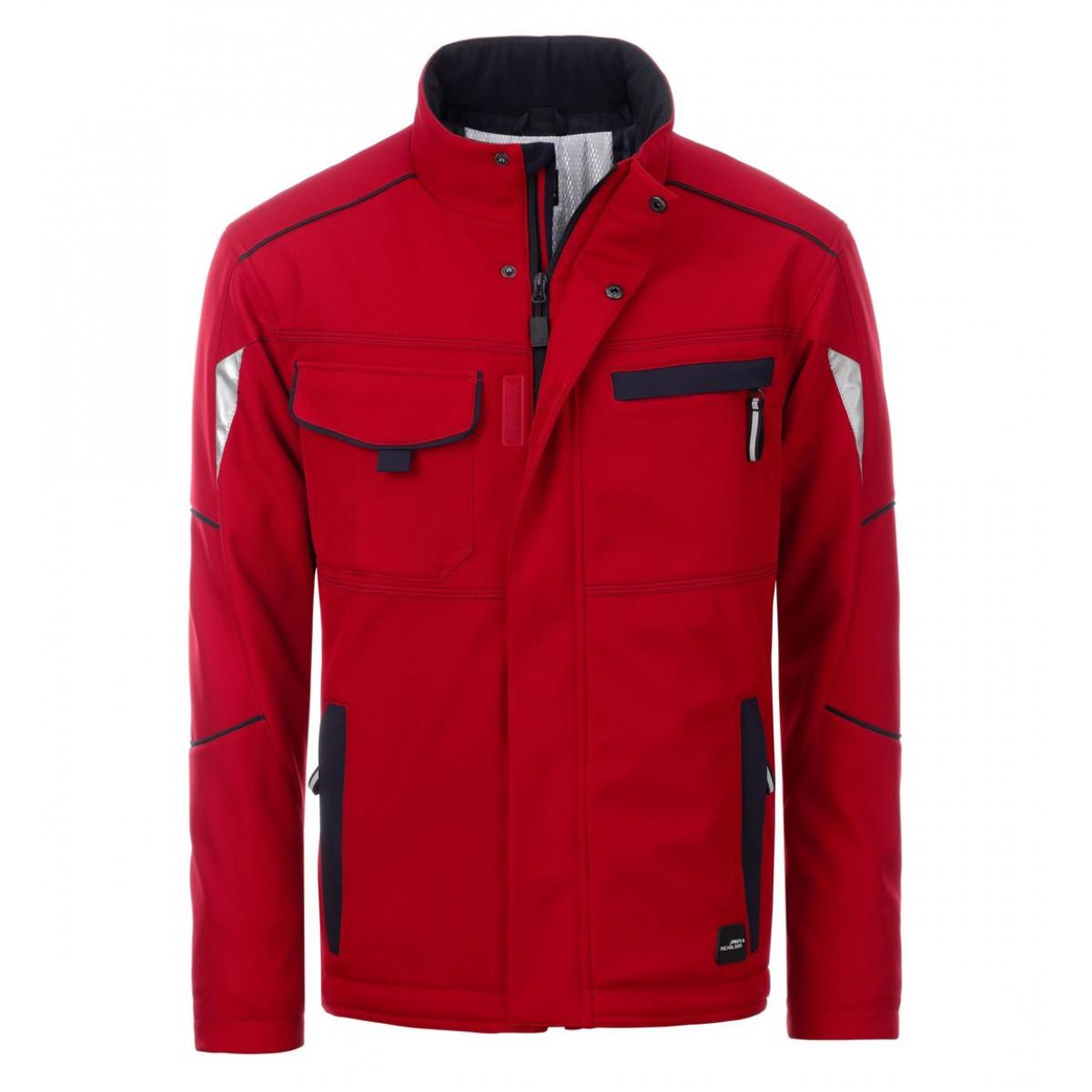 Куртка мужская JN853 Workwear Softshell Padded Jacket-Level 2 - Красный/Темно-синий