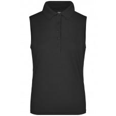 Рубашка поло женская JN575 Ladies' Active Polo Sleeveless - Черный
