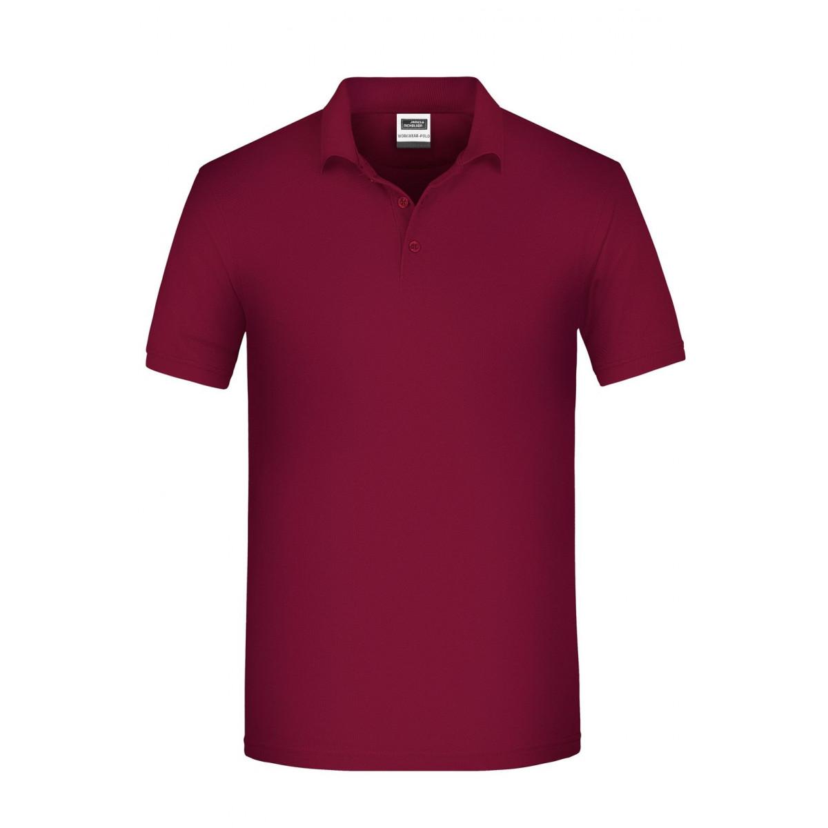 Рубашка поло мужская JN874 Mens BIO Workwear Polo - Бордовый