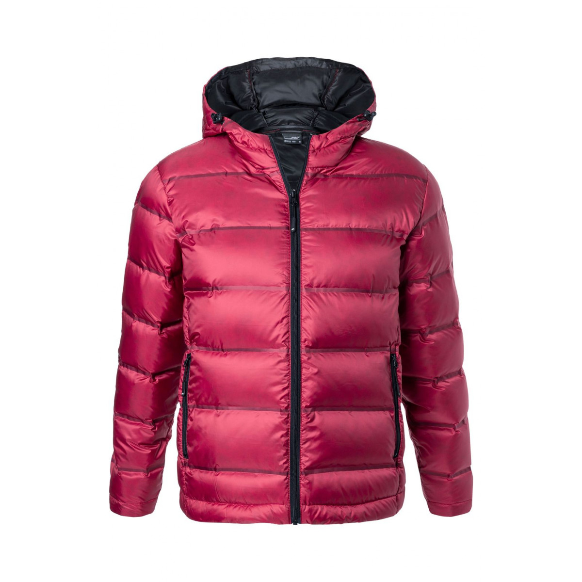 Куртка мужская JN1152 Mens Hooded Down Jacket - Красный/Черный