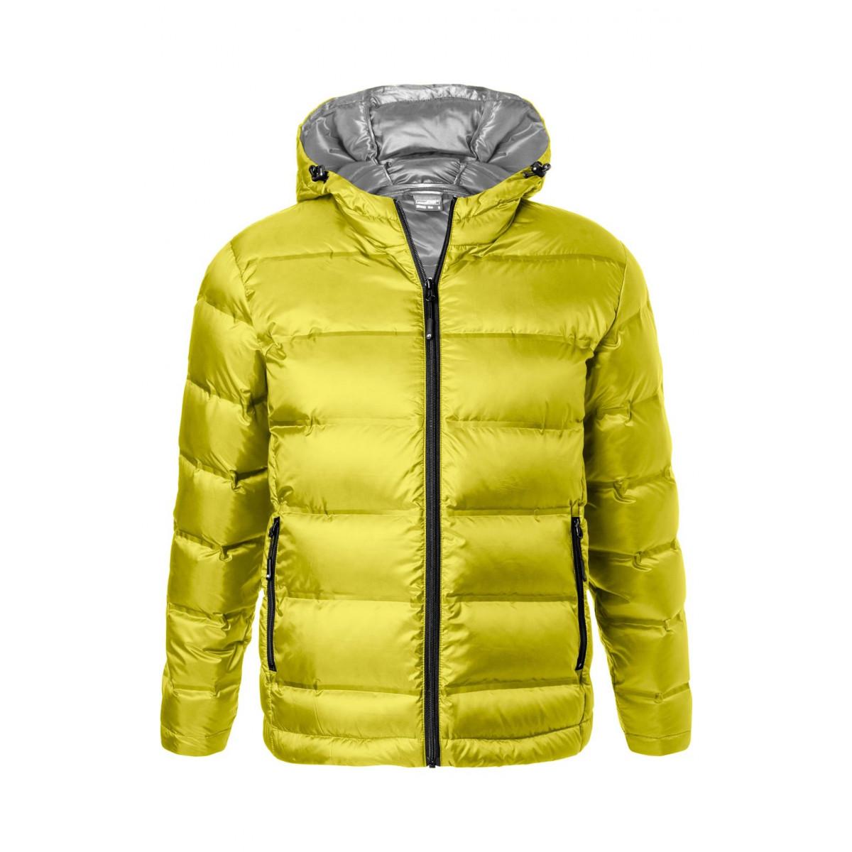 Куртка мужская JN1152 Mens Hooded Down Jacket - Желтый/Серебряный