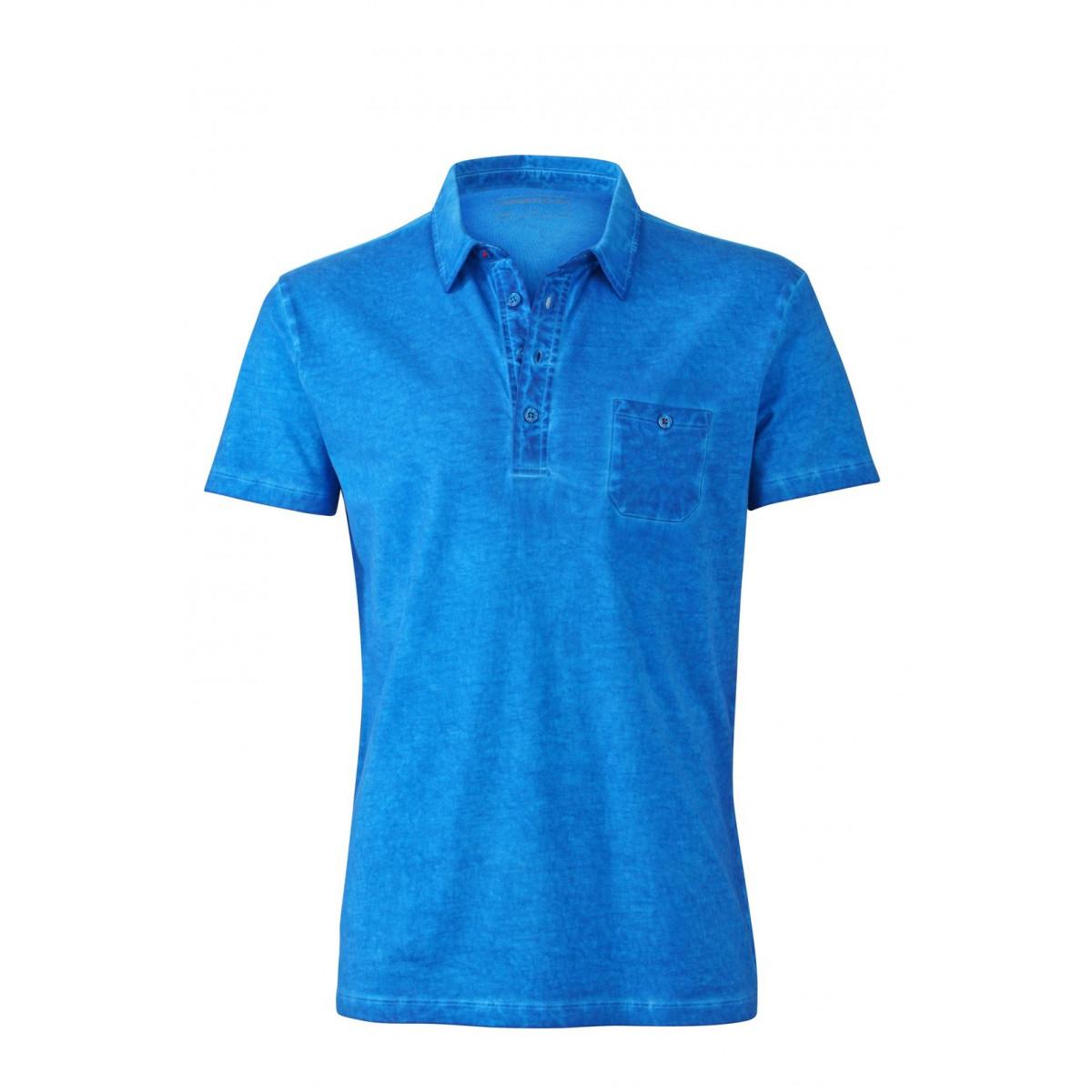 Рубашка поло мужская JN988 Mens Gipsy Polo - Ярко-синий