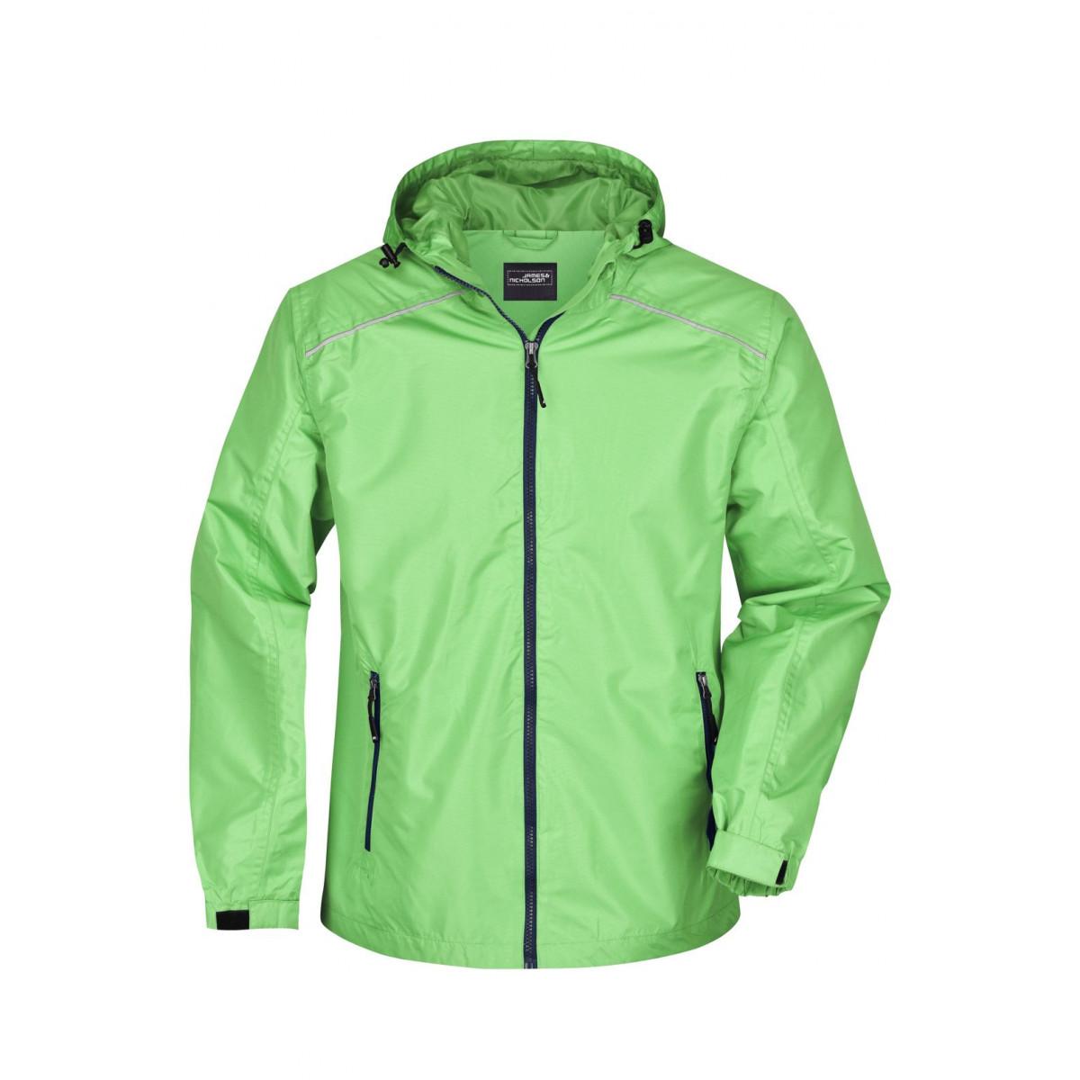 Куртка мужская JN1118 Mens Rain Jacket - Насыщенный зеленый/Темно-синий