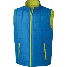 Жилет мужской JN1037 Men's Padded Light Weight Vest - Аква/Лайм