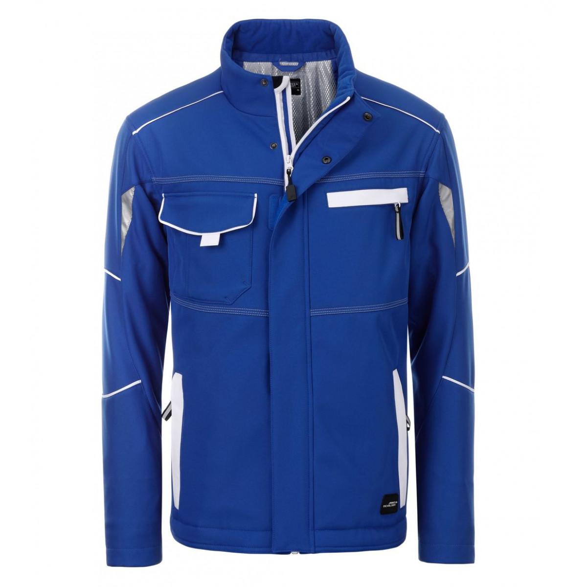 Куртка мужская JN853 Workwear Softshell Padded Jacket-Level 2 - Ярко-синий/Белый