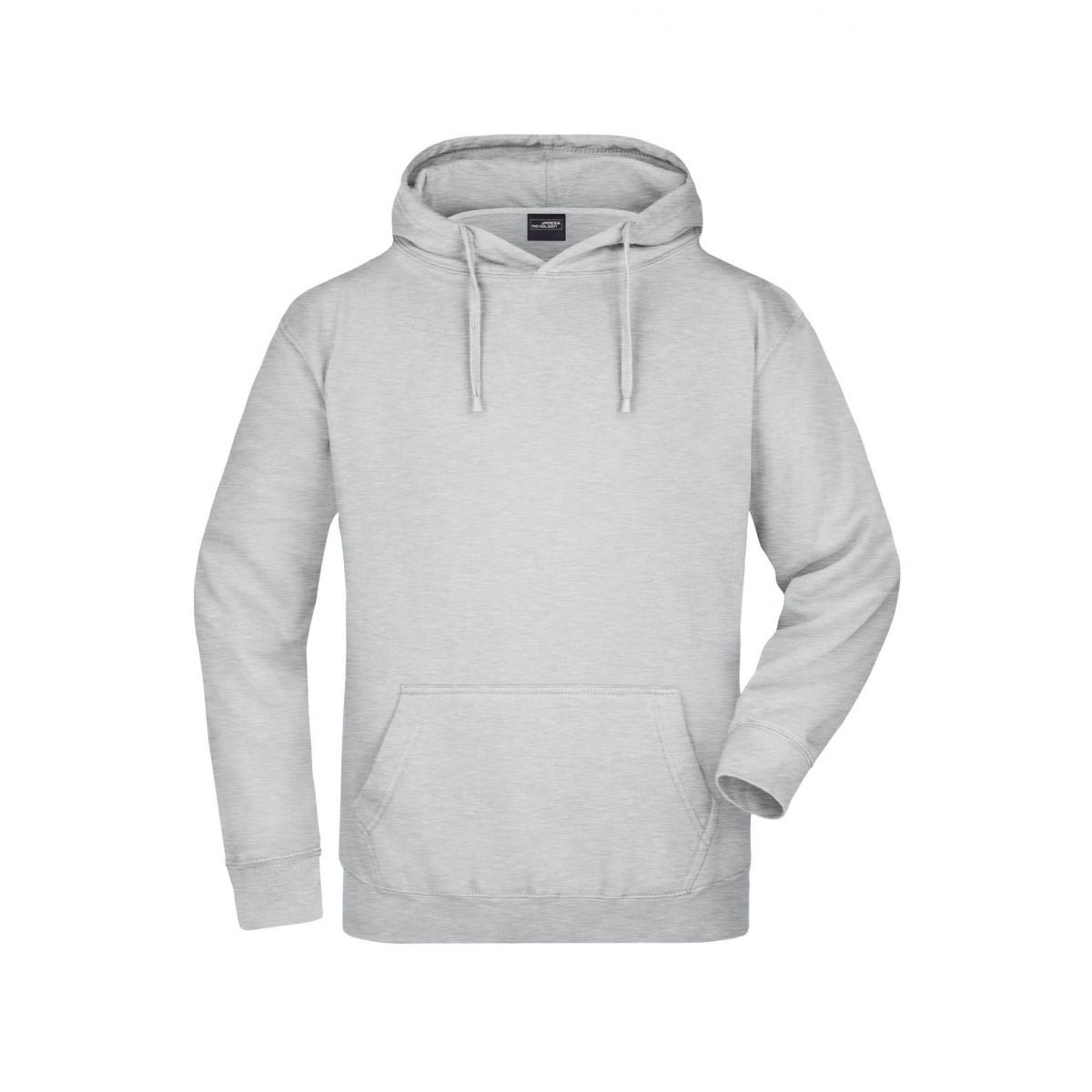 Толстовка мужская JN047 Hooded Sweat - Серый меланж