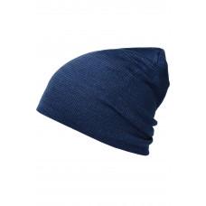 Шапка MB7118 Casual Long Beanie - Джинс/Темно-синий