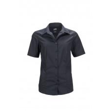 Рубашка женская JN643 Ladies' Business Shirt Shortsleeve - Черный